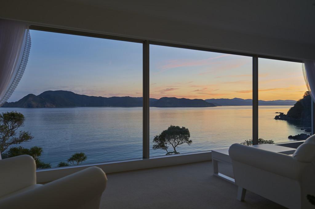 客室からの夕方の眺望