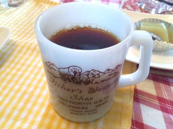 ミルで引いたコーヒー