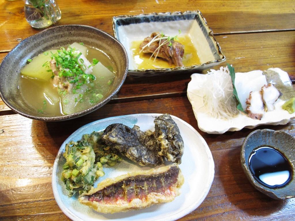 奄美手広、GREEN HILL料理
