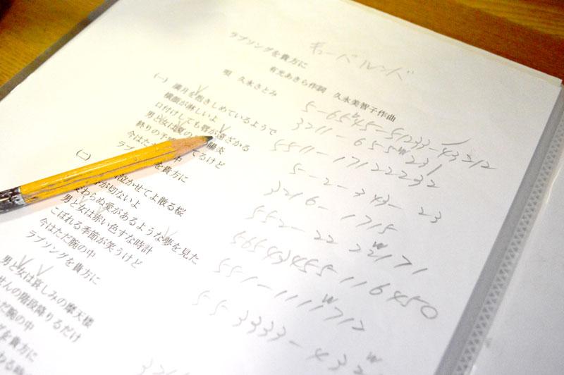 新しい歌詞の作曲メモ(久永美智子)