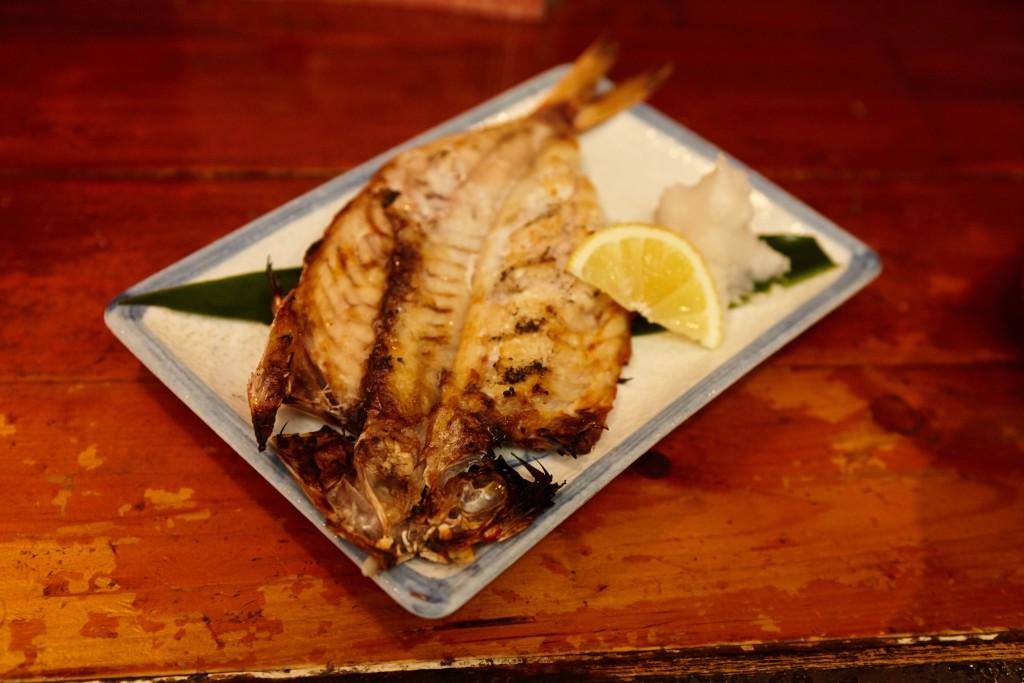 奄美郷土料理居酒屋「一村」、赤ウルメ一夜干し