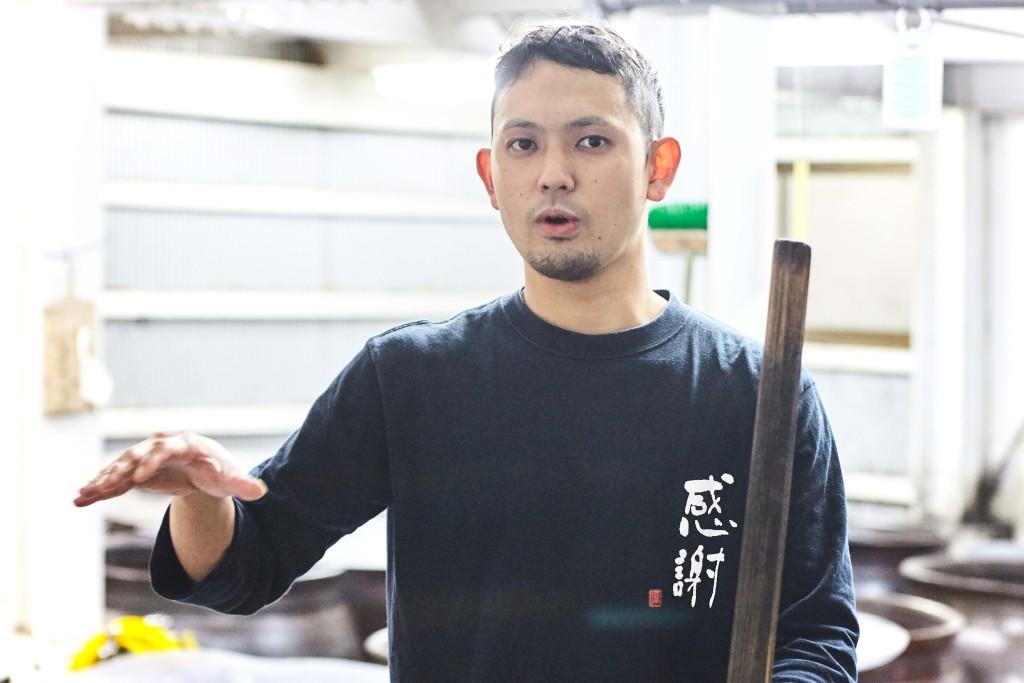 富田酒造場の富田真行さん