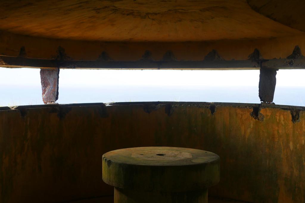 西古見の観測所跡の内観