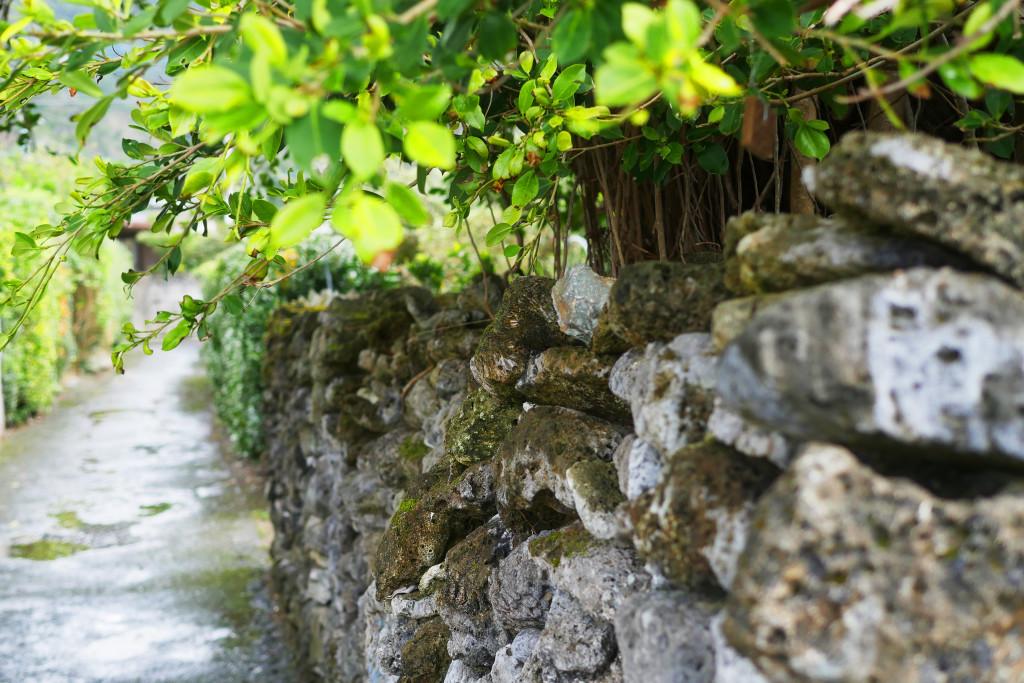 サンゴ石垣の集落