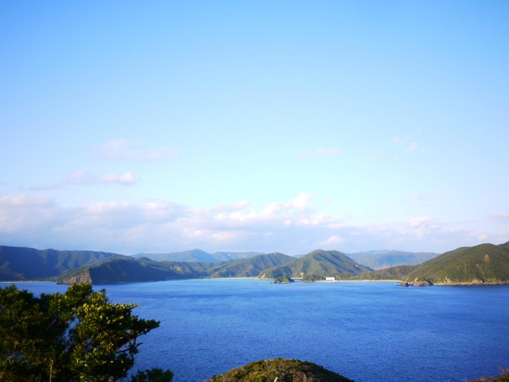 安脚場戦跡公園からの大島海峡の眺め