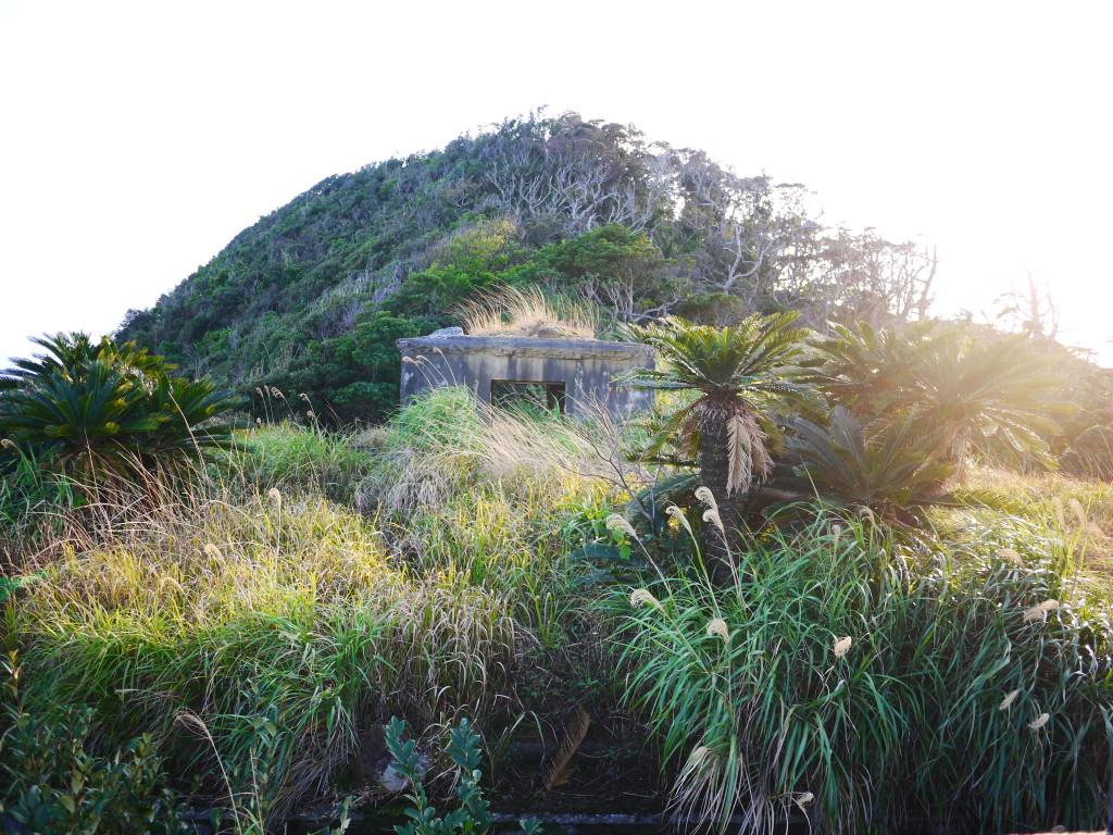 安脚場戦跡公園に残る戦争の遺跡