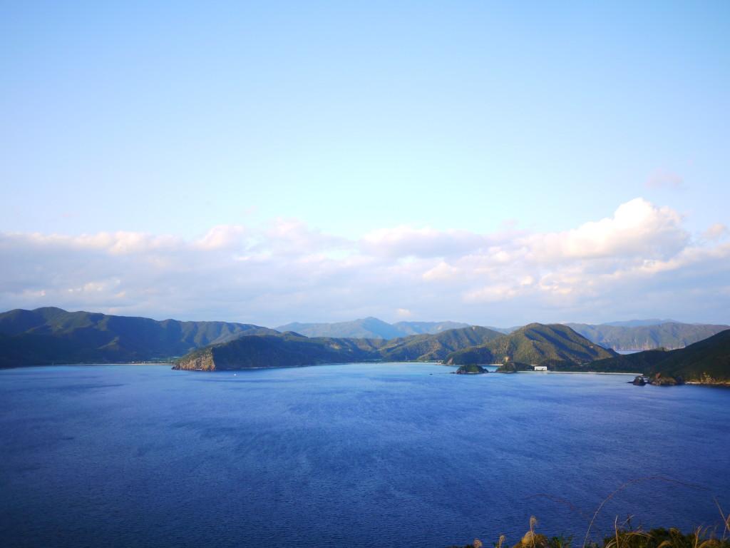 安脚場戦跡公園から眺める奄美大島
