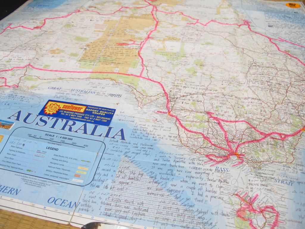 紬レザーかすり オーストラリアの地図