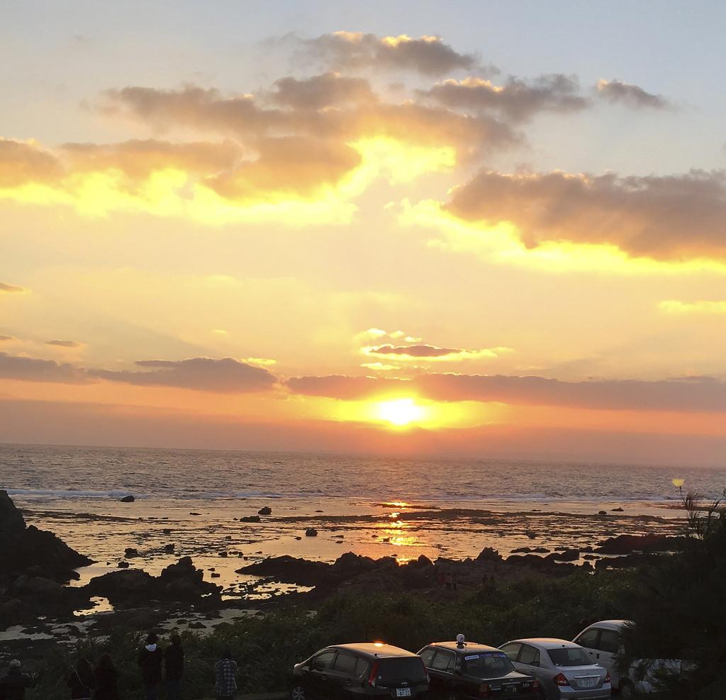 あやまる岬観光公園から見える初日の出
