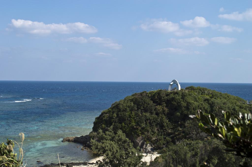 あやまる岬から見える水平線