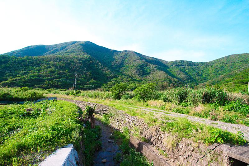 古仁屋西古見集落内の風景
