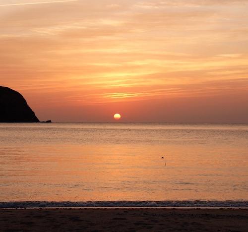 国直で見られる美しい夕日