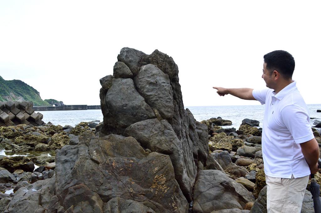 龍郷町円集落のマツリ石