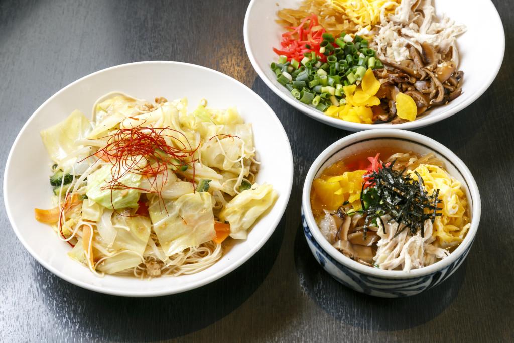 奄美居酒屋「和ごころ あまみ」の鶏飯と油ソーメン