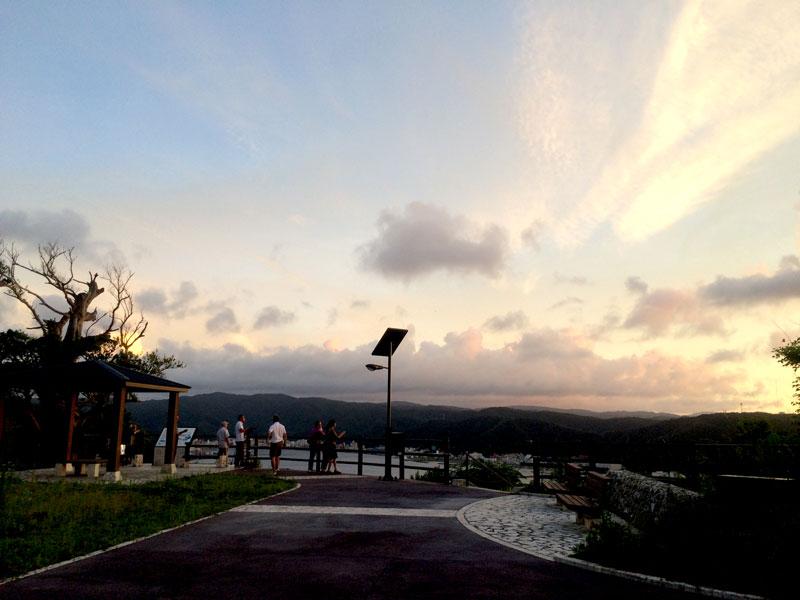 奄美の大熊展望台の夕暮れ