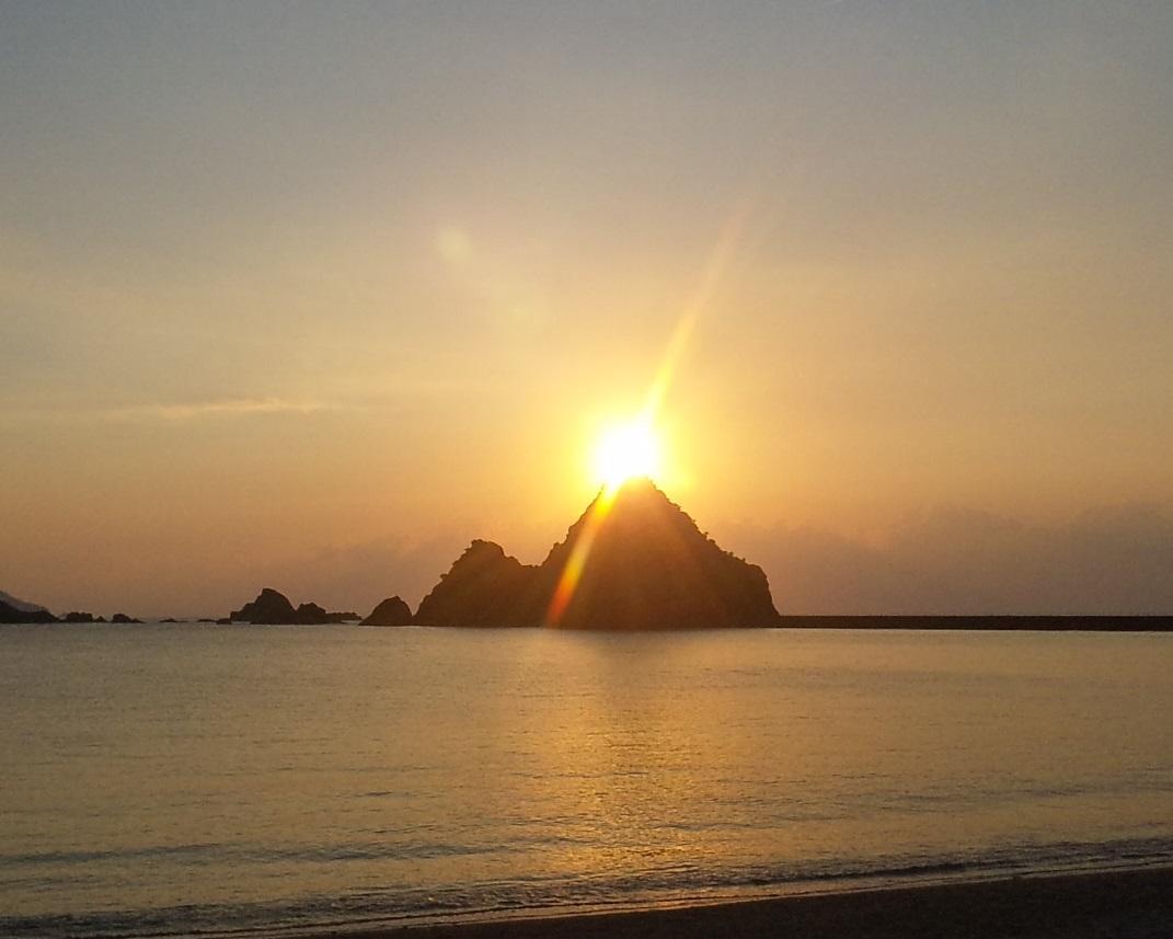 加計呂麻島西阿室の夕日