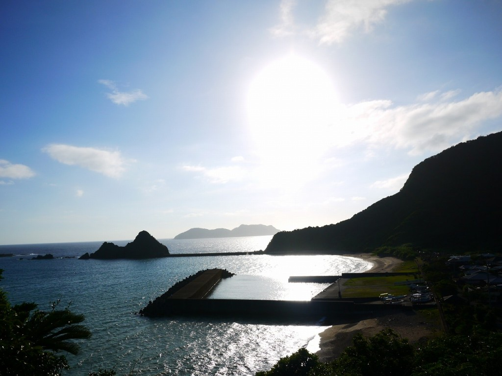 加計呂麻島西阿室、グリヤマからの景色