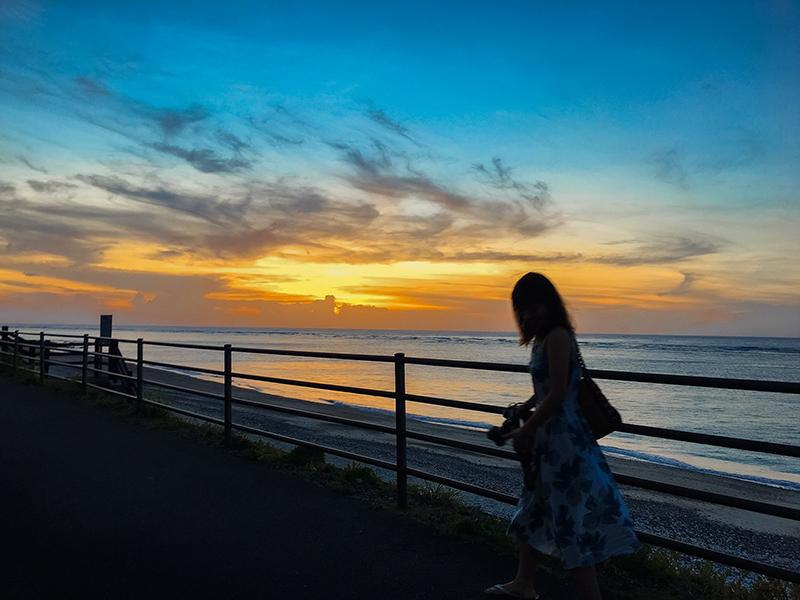 奄美、県道81号線の夕日