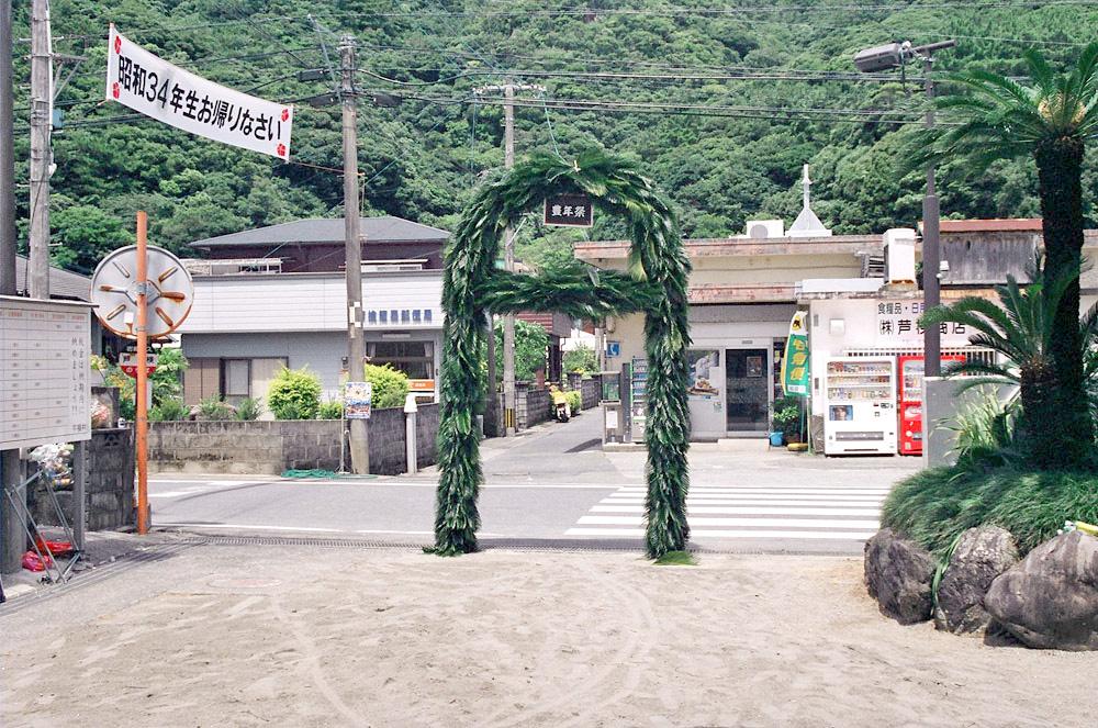 奄美宇検村の豊年祭:蘇鉄のアーチ