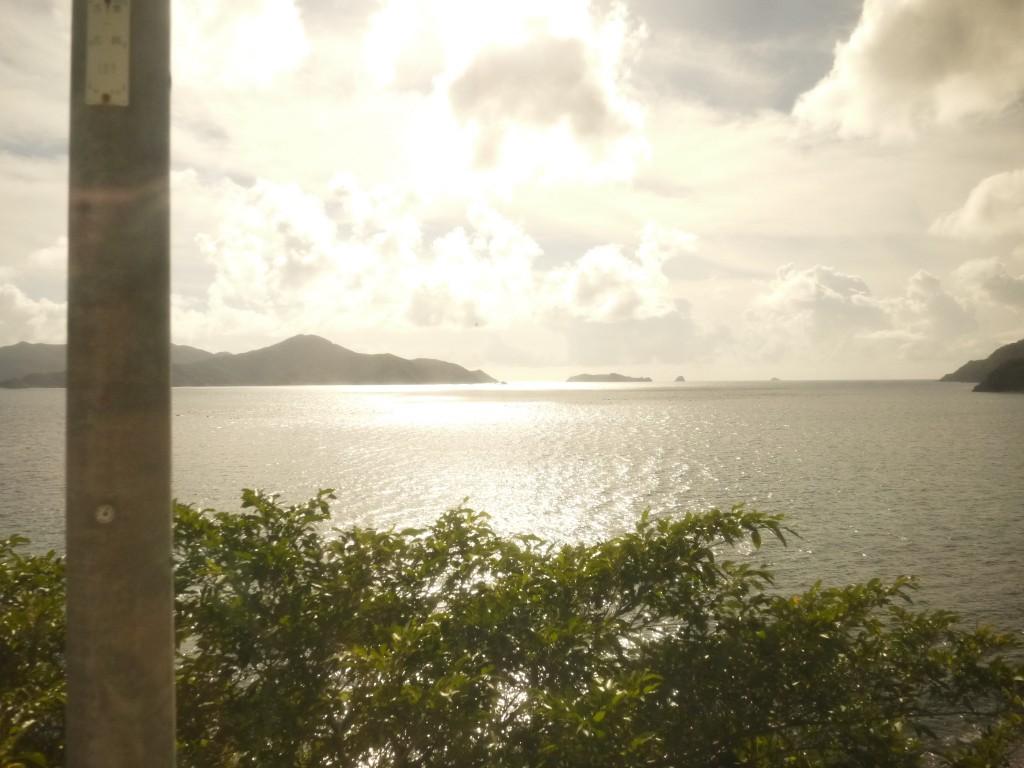 奄美南に向かうバスからの風景
