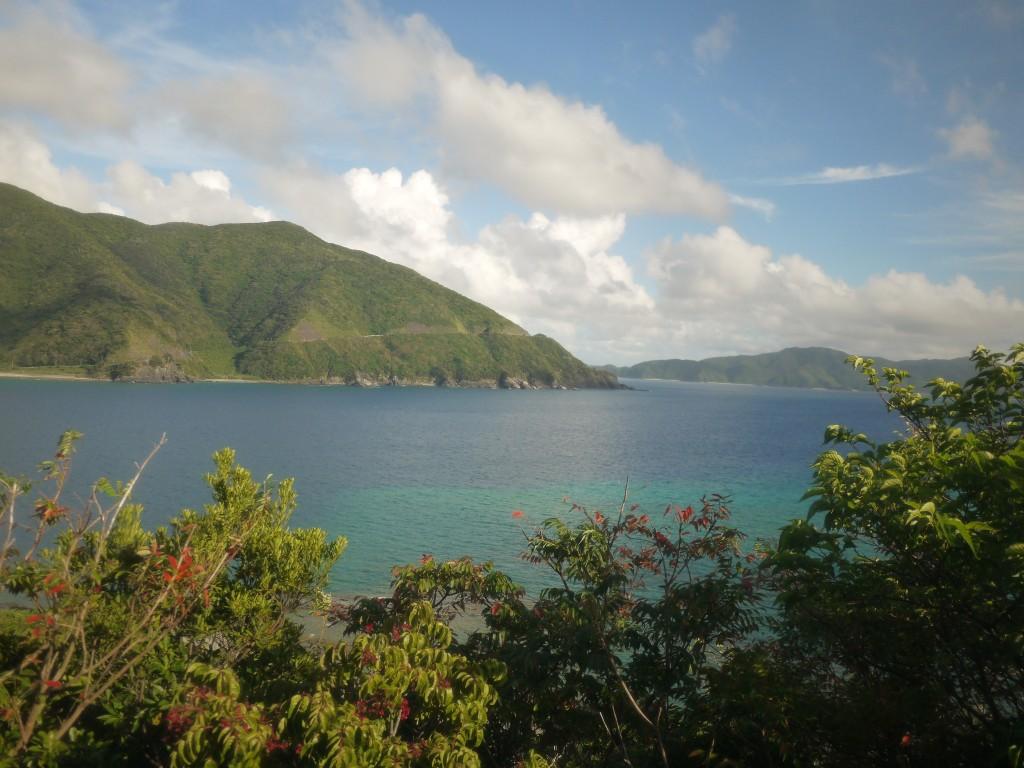 奄美海と山の見える風景