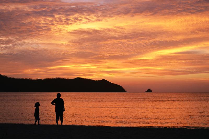 笠利赤木名海岸の夕日