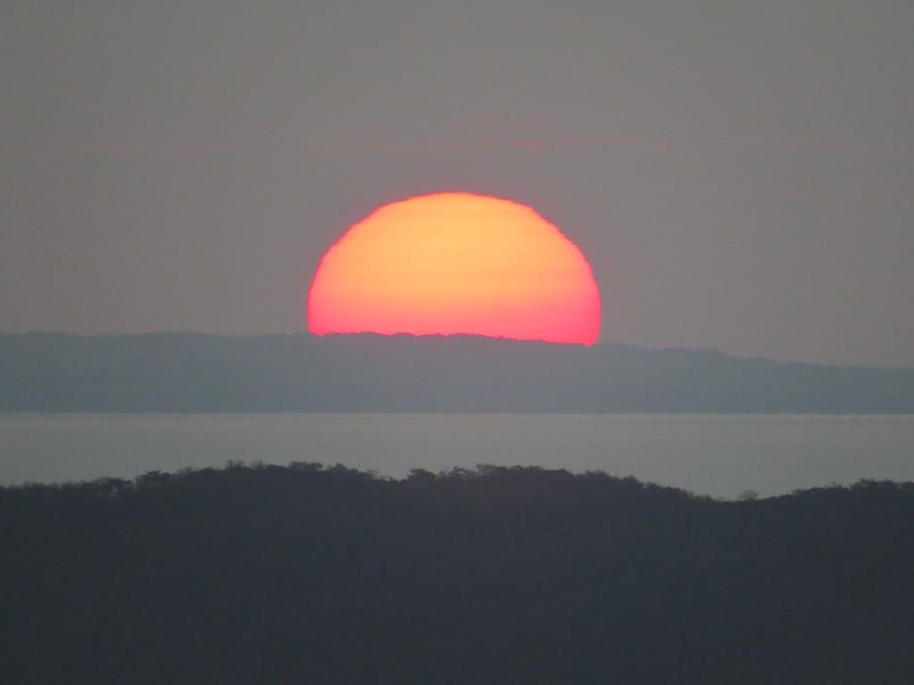初日の出:晴れているときれいに初日の出が見られます。