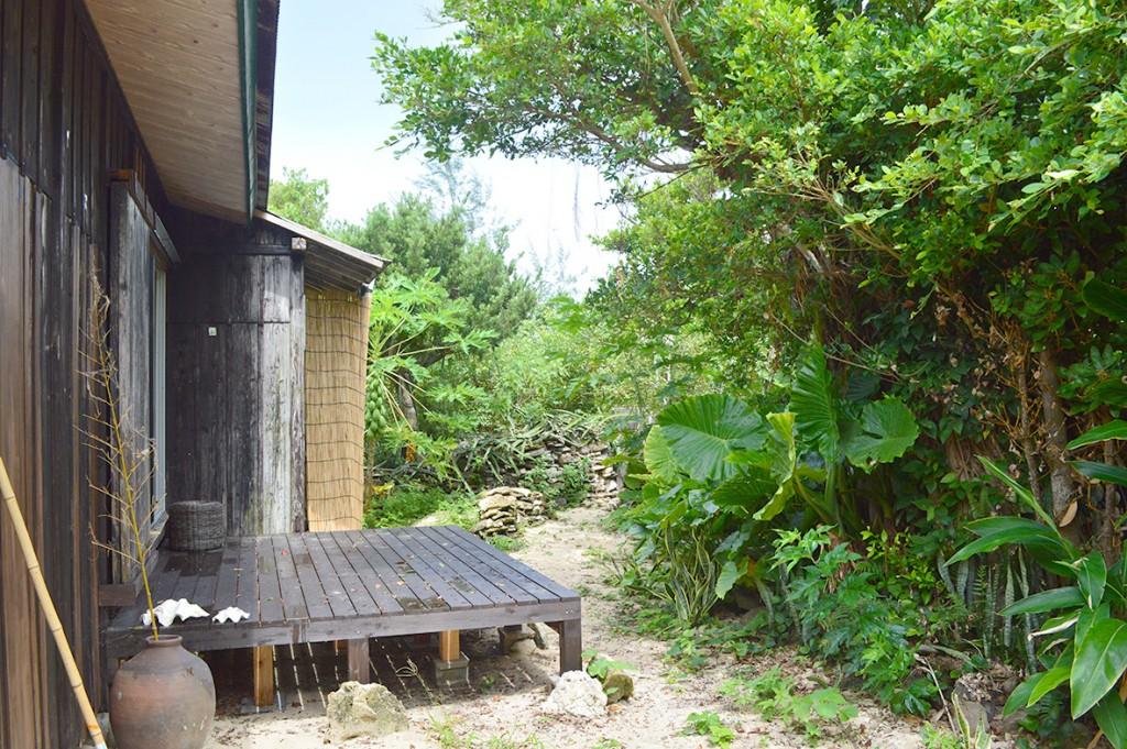 奄美伝泊「プライベートビーチのある宿」庭