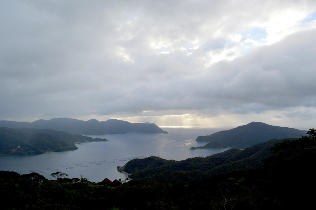 奄美宇検村峰田山公園からの眺め