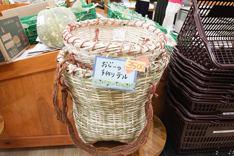 奄美加計呂麻島「いっちゃむん市場」の竹かご