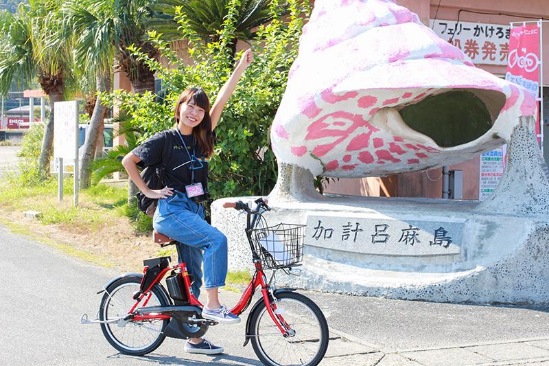 加計呂麻島をレンタルサイクルで走る写真IMG_1572web