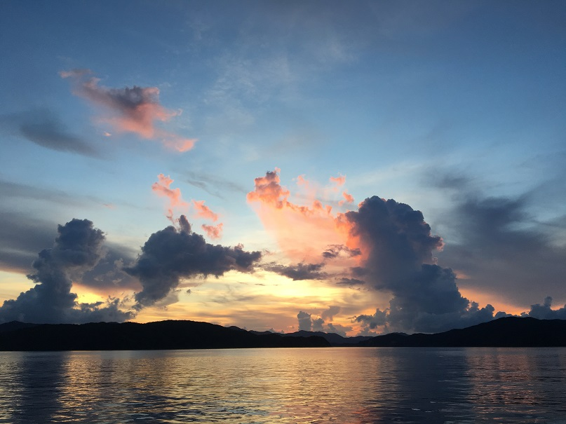 大島海峡のサンセット