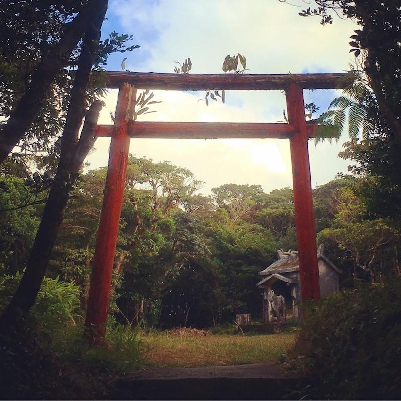奄美湯湾岳頂上付近の鳥居