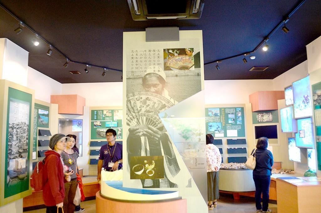 宇検村「元気の出る館」:ノロの展示