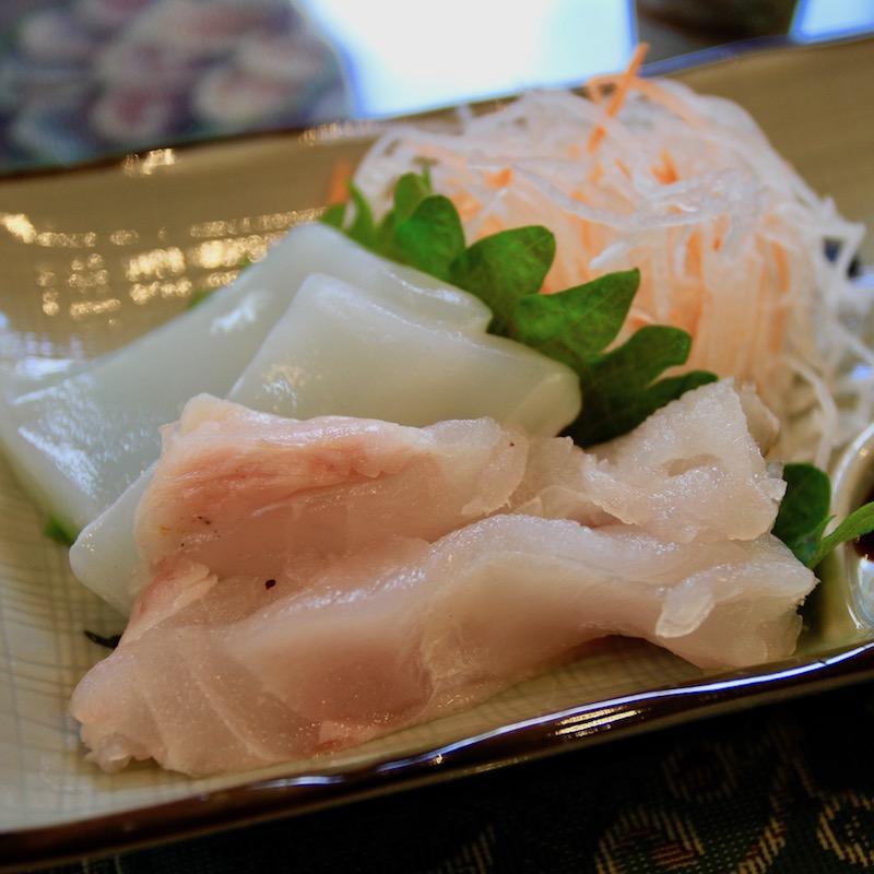 奄美の正月料理のお刺身