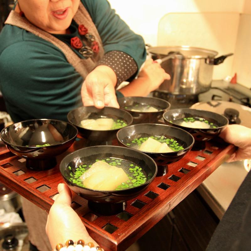 奄美の正月料理冬瓜の吸い物