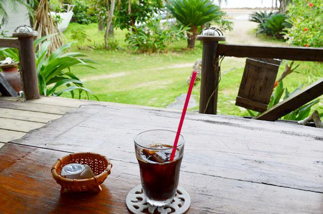 テラスのアイスコーヒー