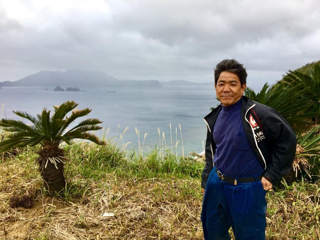 ガンバロウ丘を所有する徳田達郎さん