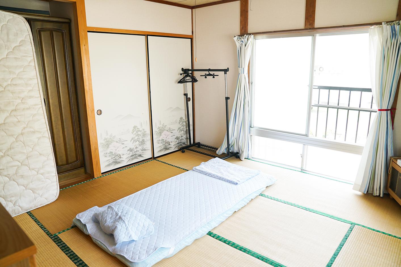 民宿の寝室