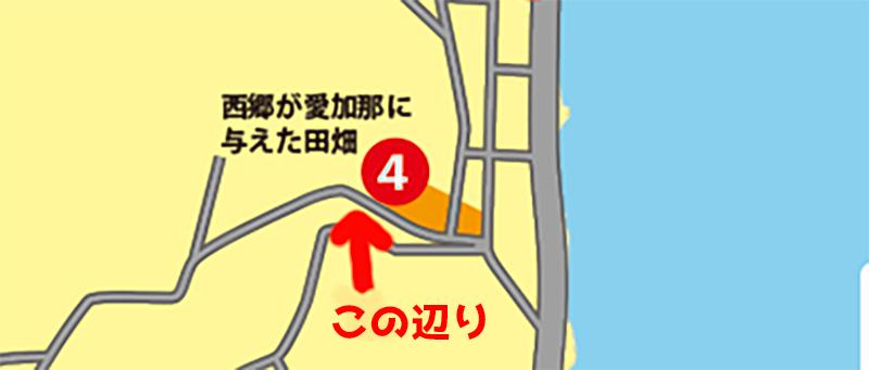 奄美の愛加那の泉ことイジョンゴの地図