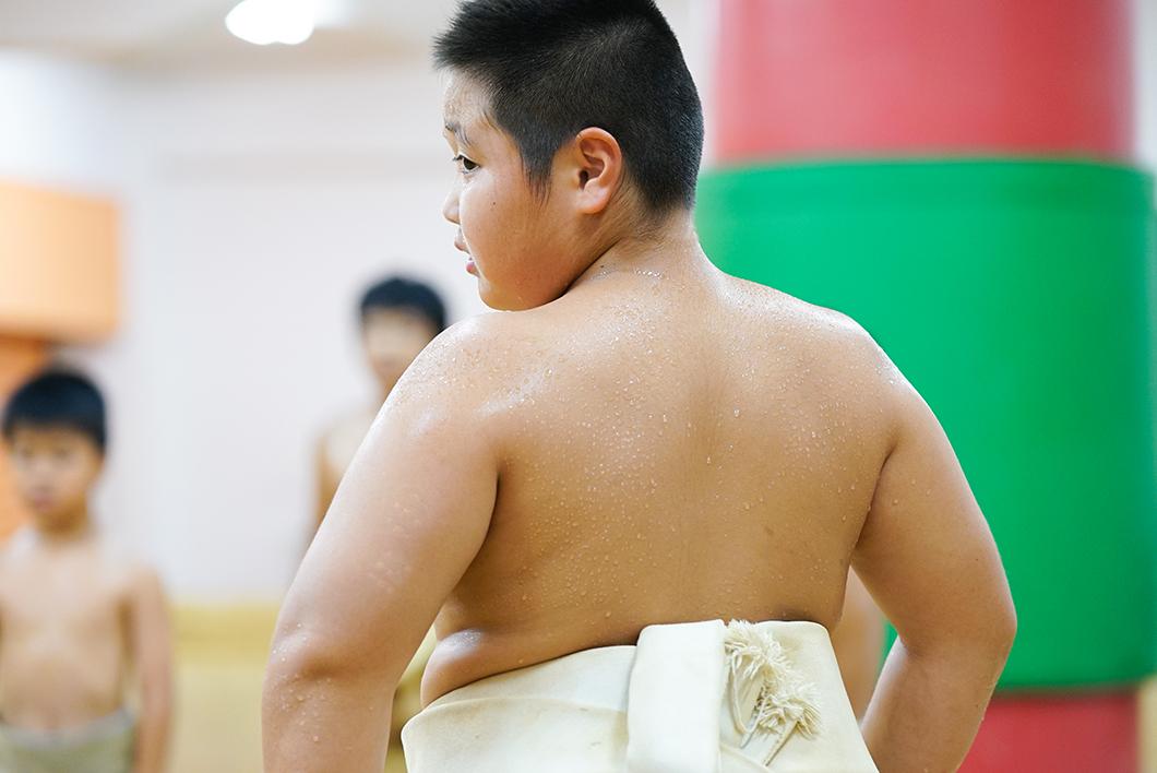 住用相撲クラブ練習風景