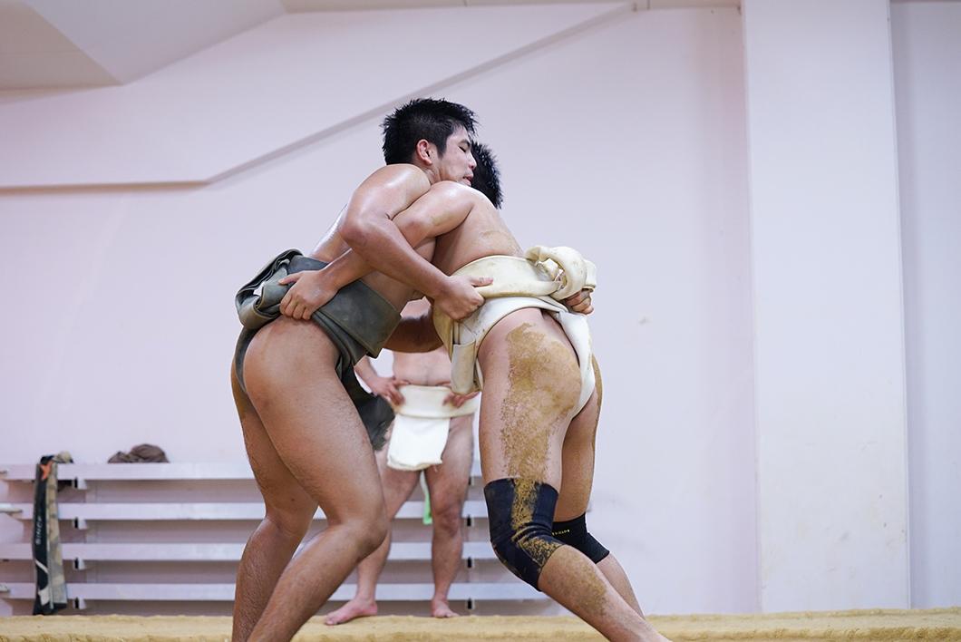 住用相撲クラブ:高校生の取組