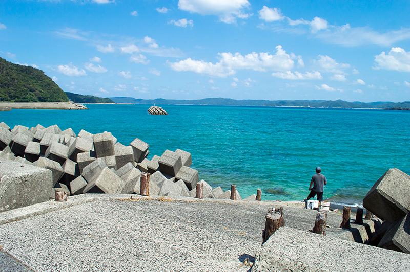 奄美大島龍郷町の青い海
