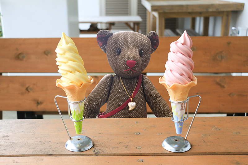 奄美の大和まほろば館のソフトクリーム