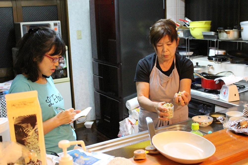 ジマメ豆腐作り