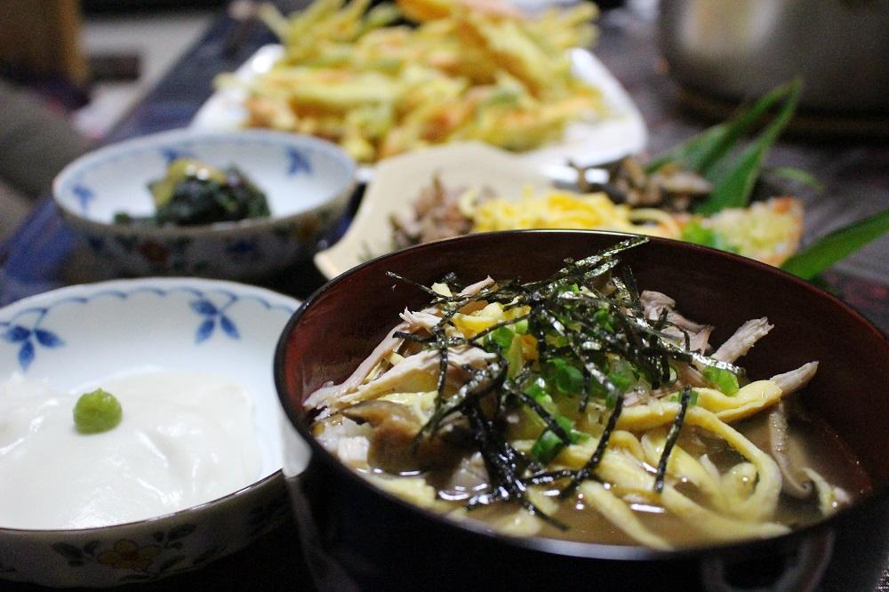 住用町ほぉらしゃ家の夜ご飯「鶏飯」