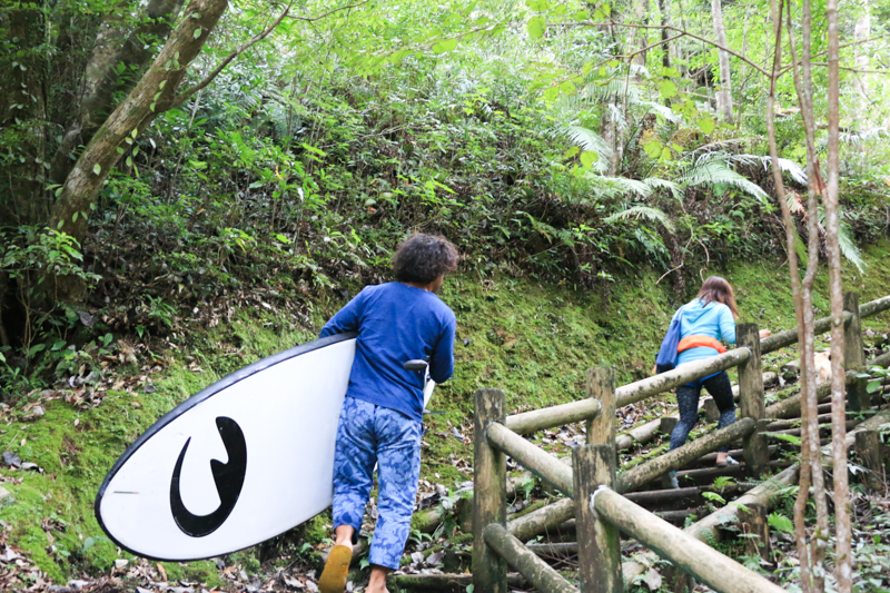 奄美の大和村にあるマテリヤの滝