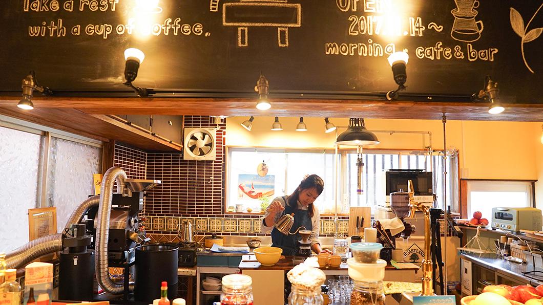 宇検村「とよひかり珈琲店」キッチンの様子