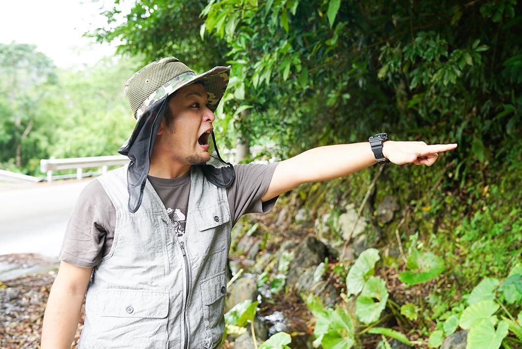 宇検村で驚く男性