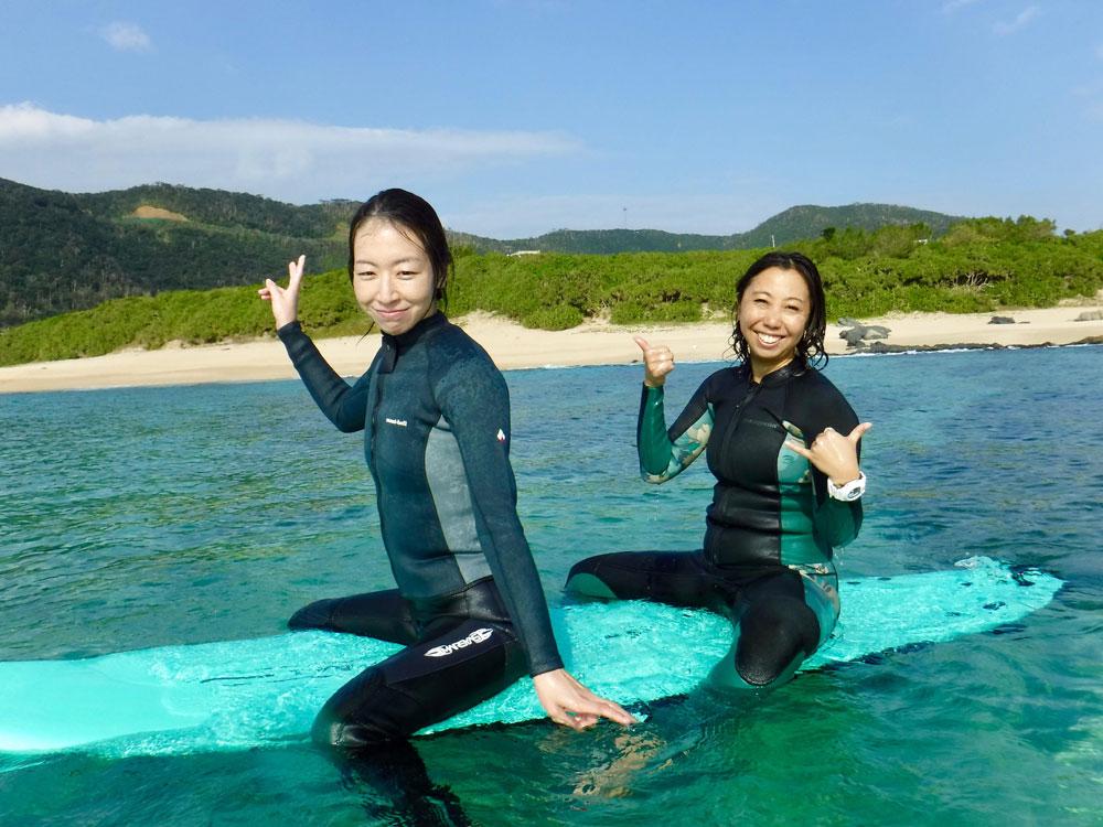 奄美の海とサーフィン体験:GREENHILL